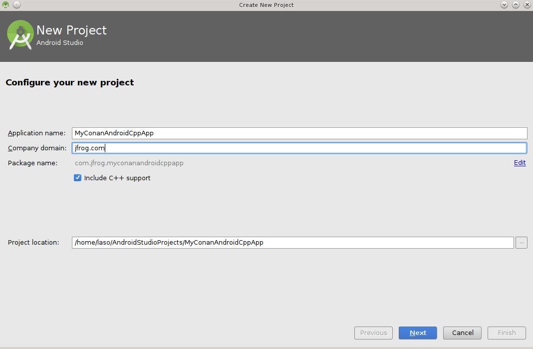 Android Studio — conan 1 7 4 documentation
